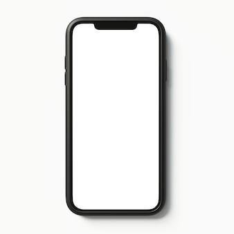 Illustration, smartphone, maquette, sur, isolé, fond, isolé, réaliste, 3d, téléphone