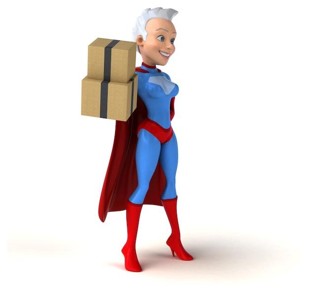 Illustration de super femme