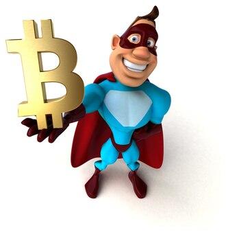 Illustration de super-héros amusant