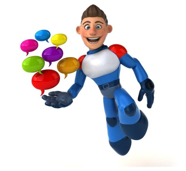 Illustration de super-héros super moderne