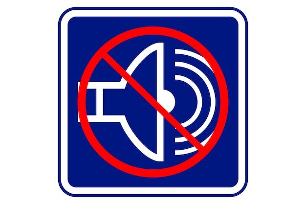 Illustration de symbole silencieux sur fond bleu.
