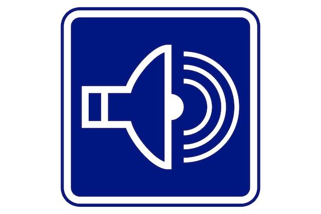 Illustration de symbole sonore sur fond bleu.