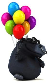 Illustration de taureau noir