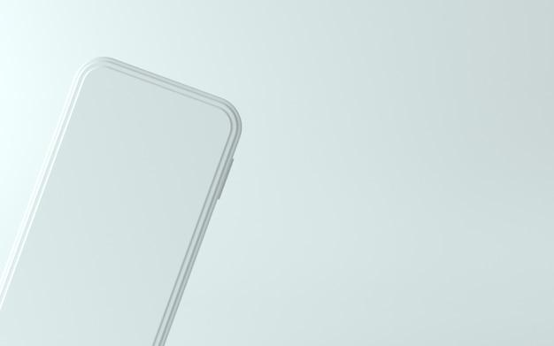 Illustration de téléphone blanc 3d avec écran vide