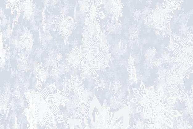 Illustration sur le thème de l'illustration 3d des chutes de neige du nouvel an