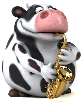 Illustration de vache amusante