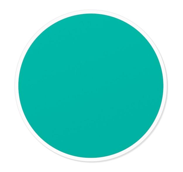 Illustration vectorielle rond cercle vert vide