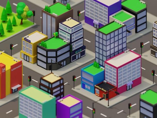 Illustration de la ville dans la conception 3d