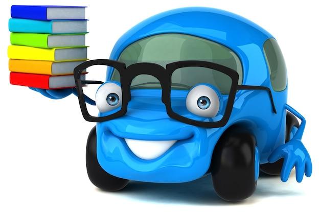 Illustration de voiture amusante