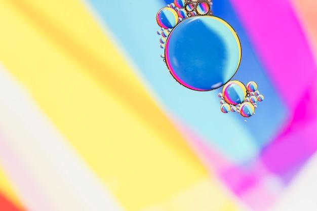 Îlot de bulles plus net et plus concentré