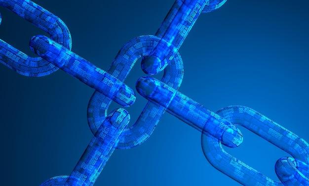 Image 3d de chaîne de code binaire