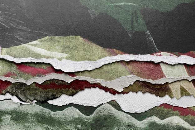 Image abstraite dans un style de papier déchiré