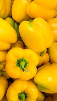 Image abstraite gros plan de beaucoup de poivrons paprica. texture de poivrons