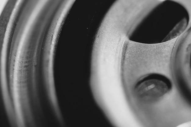 Image d'arrière-plan monochrome du filtre à huile se bouchent.