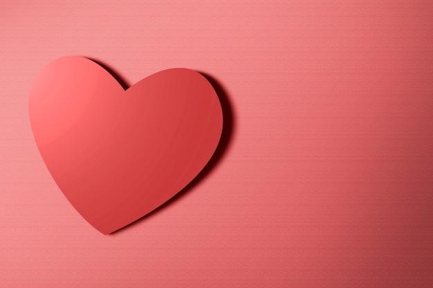 Image d'un coeur rouge sur fond rouge