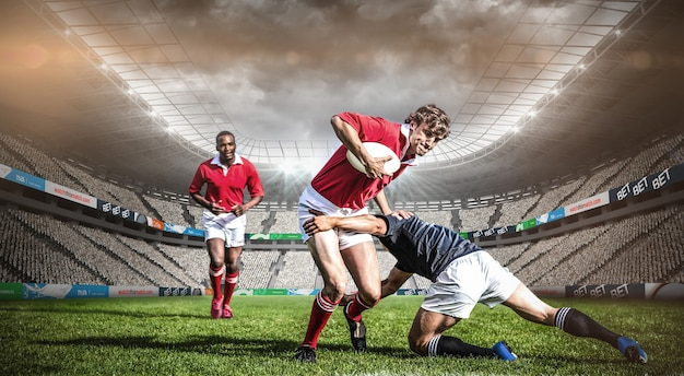 Image composite du stade de rugby