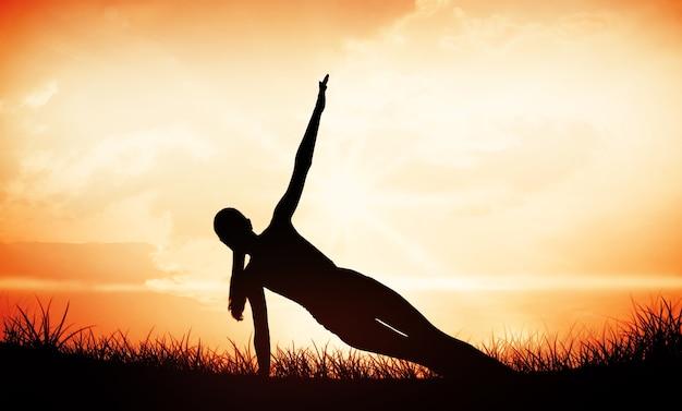 Image composite de fit woman doing pilate exercices dans le studio de remise en forme