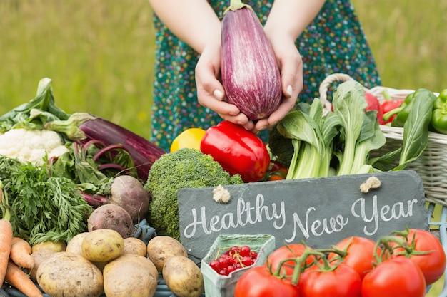Image composite de la nouvelle année en bonne santé