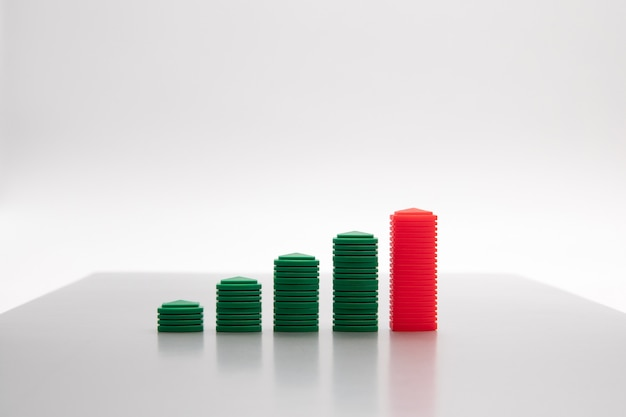 Image de concept de croissance d'entreprise pour le fond abstrait de croissance d'entreprise.