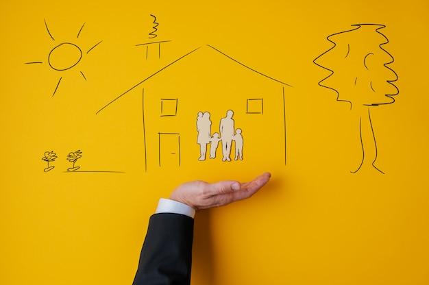 Image conceptuelle de l'assurance et de la sécurité