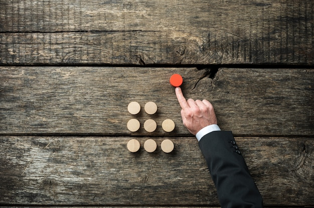 Image conceptuelle de l'initiative et de la détermination de soi