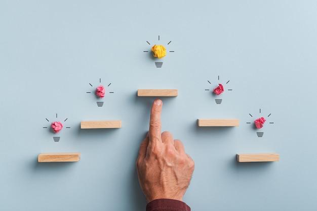 Image conceptuelle de l'innovation et du développement