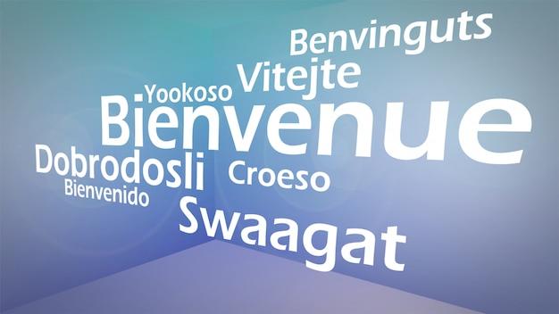 Image créative du concept de mots de bienvenue