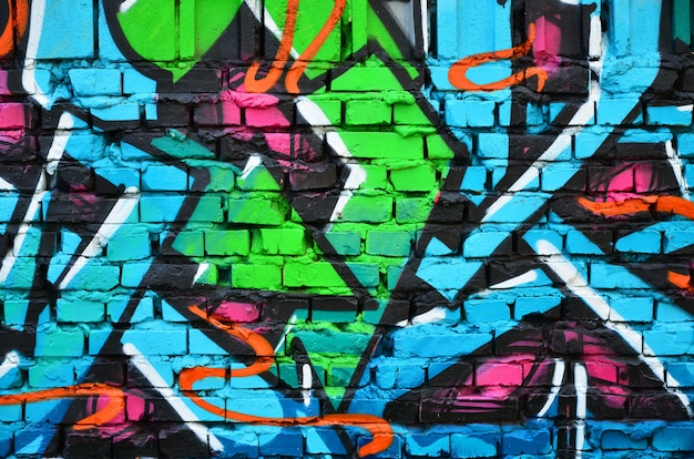 Image détaillée du dessin de graffiti de couleur.