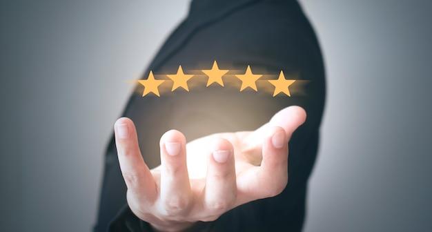 L'image du concept de service client et de retour de satisfaction