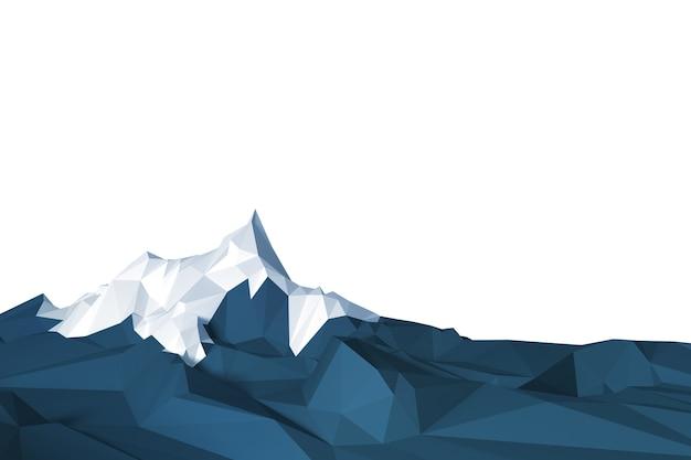 Image de faible polygone d'une montagne contre le ciel