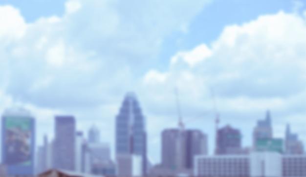 Image floue du bâtiment avec ciel