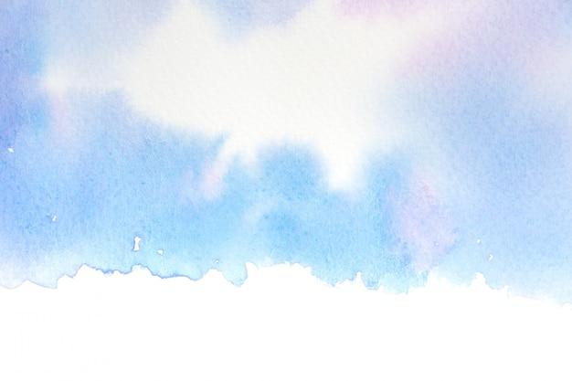 Image de fond abstraite de mer avec aquarelle