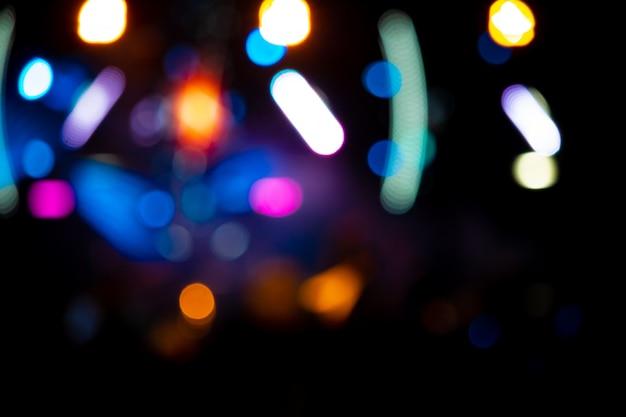 Image de fond avec lumières de la scène floues défocalisés