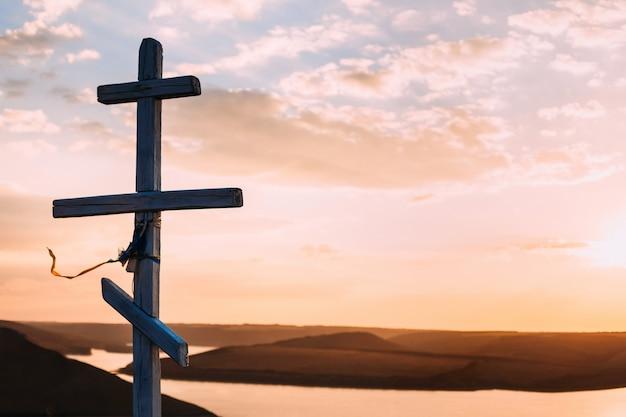 Image de fond pour le bureau de l'église: le symbole de la croix du christ