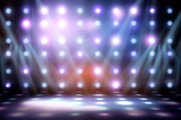 Image de fond de la scène dans les lumières de couleur