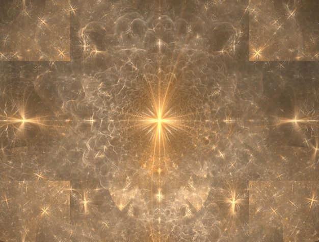 Image générée de fond fractal imaginaire