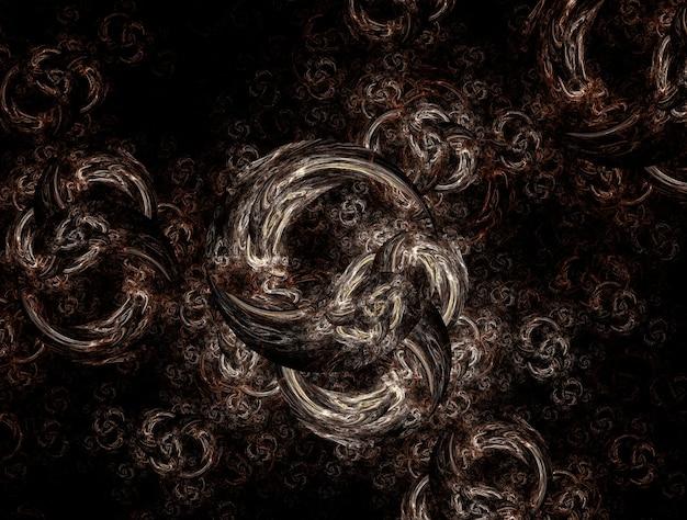 Image générée par fond fractal imaginatoire