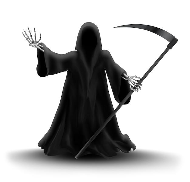 Image avec grim reaper sur fond blanc