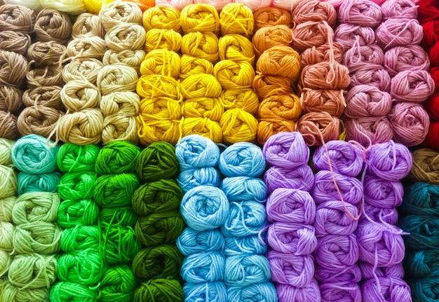 Image de laine colorée, laine à tricoter