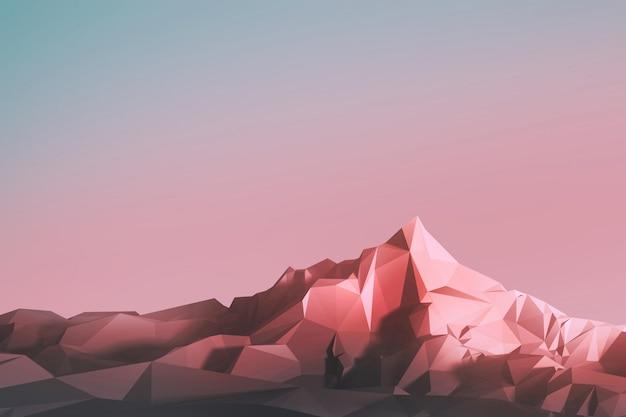 Image low-poly des montagnes