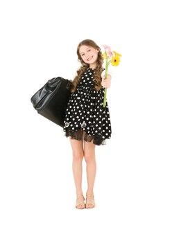 Image lumineuse d'une élève du primaire