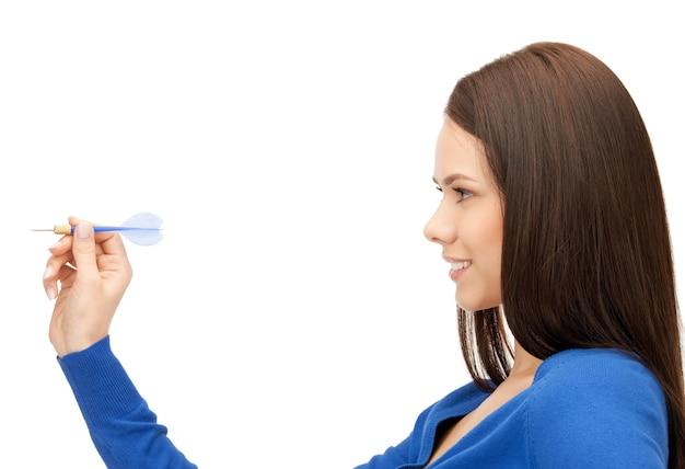 Image lumineuse d'une femme d'affaires confiante avec..