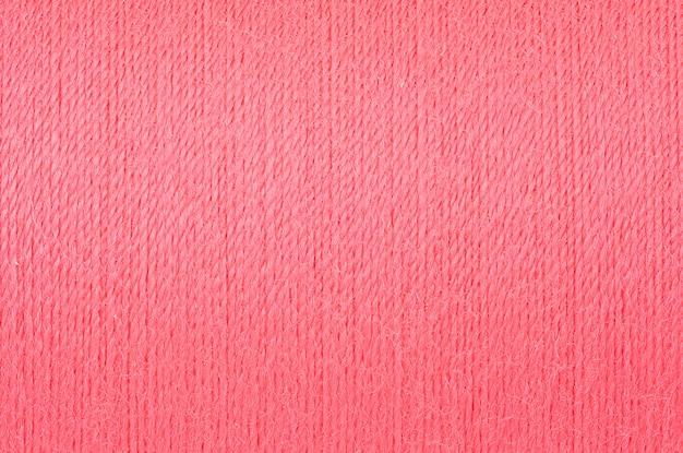 Image macro de fond de texture de fil rose tendre