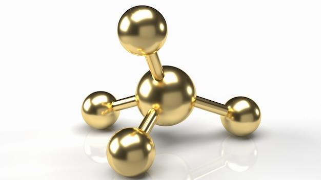 L'image de la molécule pour le rendu 3d de contenu scientifique et médical