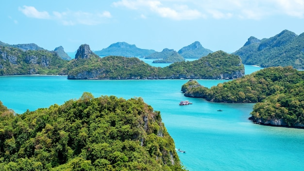 Image paysage de mu koh angthong, l'île de samui, surat thani, thaïlande