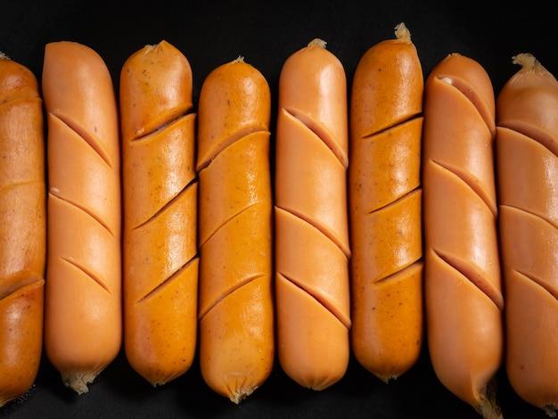L'image de plan rapproché de saucisse pour le concept de nourriture ou de santé