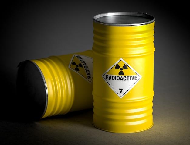 Image de rendu 3d de baril radioactif