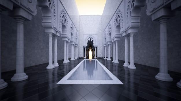 Image de rendu 3d du style islamique moderne