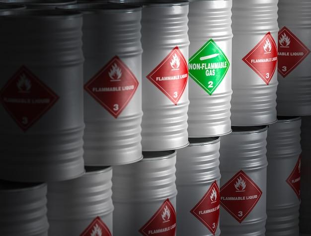 Image de rendu 3d de liquide inflammable