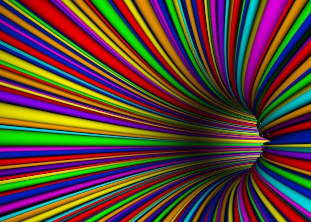 Image de rendu de tunnel de composition abstraite couleur
